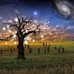 Idea tree landscape — Stock Photo