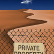 Private Property — Foto Stock #29484055