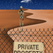 Stock Photo: Private Property