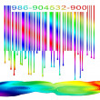 Dripping Rainbow Barcode — Stock Photo