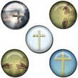 Religious Symbol Web Buttons — Stock Photo