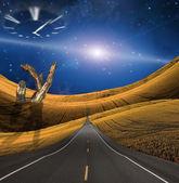 Road in strange landscape — Stock Photo