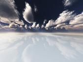 Distant city — Stock Photo