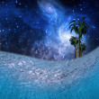 Underwater Night Scene — Stock Photo