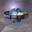 Stock Photo: World Film with Maze