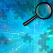 Stock Photo: Magnify Glass Puzzle Piece Background