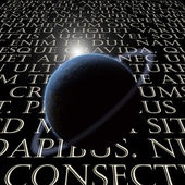 Latin Text with planet — Stock Photo