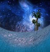 Underwater Night Scene — Stock Photo