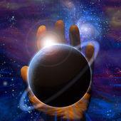 Tworzenie planety — Zdjęcie stockowe