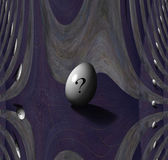 Question Mark Egg — Stock Photo