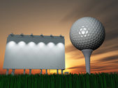 Golf and Billboard — Stock Photo
