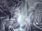 Kobieta koncepcja kwiatowy — Zdjęcie stockowe