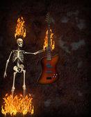 Fogo de guitarra — Foto Stock