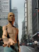 New York City Panhandler — Stock Photo