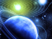 Astronomia binária — Fotografia Stock