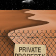 Private Property — Stock fotografie
