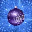 Stock Photo: Christmas Tree Ball Illustration