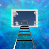 Ladder lead into Flat Panel — Stock Photo