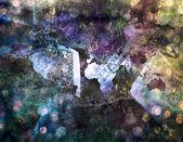 Ons geld en wereld schilderij — Stockfoto