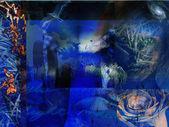 Abstraktní grunge modrá — Stock fotografie