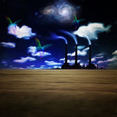 Night factory — Stock Photo