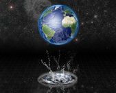 Earth Water Emerge — Stock Photo