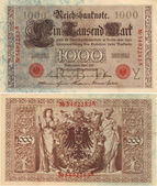 German 100 Mark Note 1910 — Stock Photo