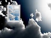 Window in sky — Stock Photo