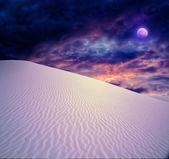 Full moon at White Sands — Stock Photo