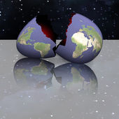 Eggshell Earth — Stock Photo