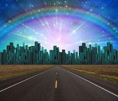 Road to City — Stock Photo