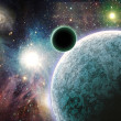 Stock Photo: Planets in space