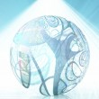 Abstract ball shape with swirling lines — Stock Photo #29517335