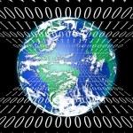 Internet World with binary code — Stock Photo