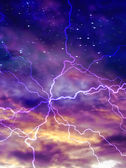 多彩夜空的电动弧 — 图库照片