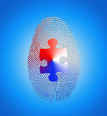 American fingerprint with puzzle — Stock Photo