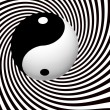 Yin Yang Symbol With Spiral — Stock Photo