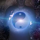 Homem estrela do yin yang — Foto Stock