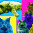 Foto Stock: Cat Art
