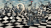 Fantasy Chess — Stock Photo