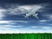 Aircraft in flight — Stock Photo