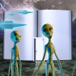 Aliens Story Book — Stockfoto
