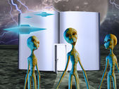 Aliens Story Book — Stock Photo
