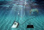 Fantasy-unterwasser-szene — Stockfoto