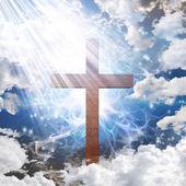 Cross in light — Stock Photo