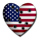 USA Heart Wounded — Stock Photo
