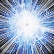 Stock Photo: Light burst with stars