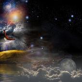 Mystical Landscape Composition — Stock Photo