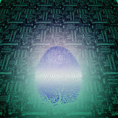 Machine Fingerprint — Stock Photo