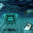 Fantasy Underwater scene — Stock Photo